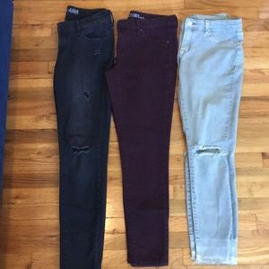 Denim - Final $ Drop: Bundle of size 6 skinny jeans